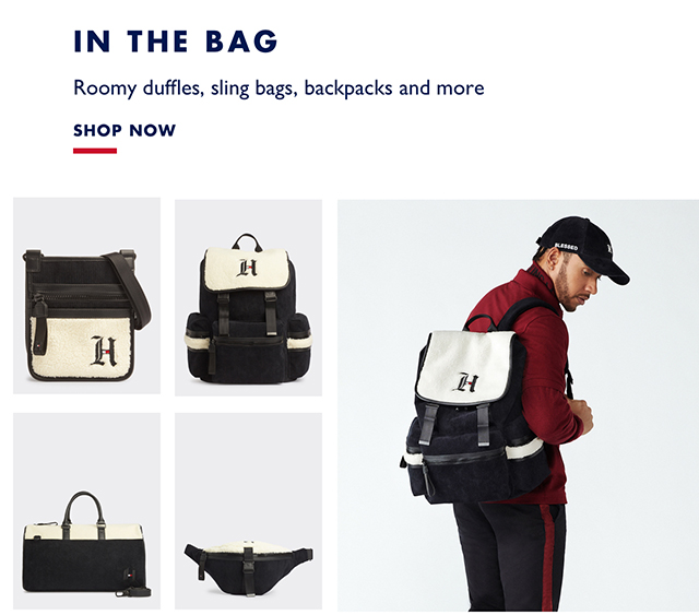 Roomy duffles, sling bags, backpacks and more - SHOP NOW