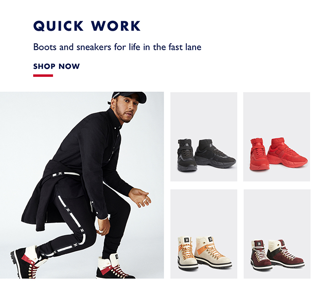 Boots and sneakers for life in the fast lane - SHOP NOW