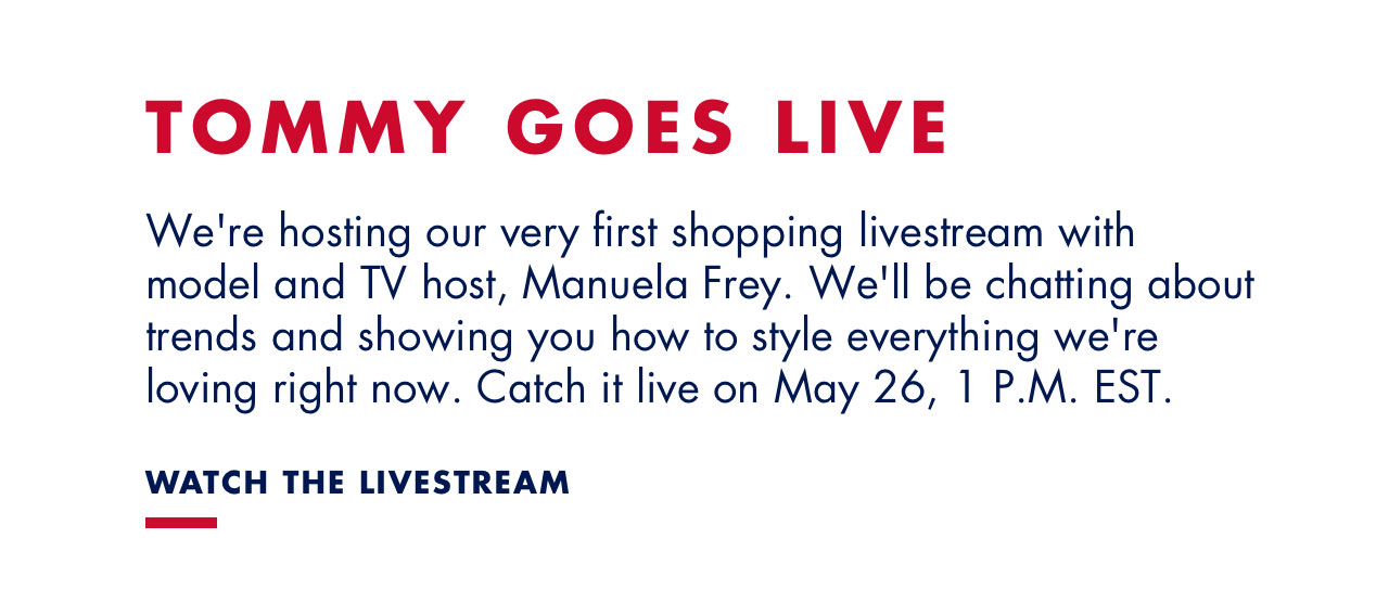 TOMMY GOES LIVE - WATCH THE LIVESTREAM